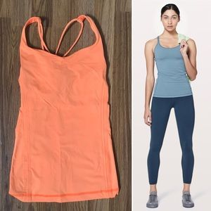 🍋 Lululemon Neon Orange Workout Tank Sz 6